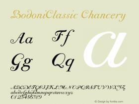 BodoniClassic-Chancery Version 001.000图片样张