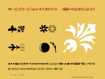 BodoniClassic-Ornaments Version 001.000图片样张