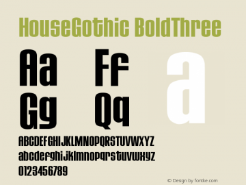 HouseGothic-BoldThree Version 001.000图片样张