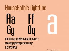 HouseGothic-LightOne Version 001.000图片样张
