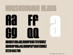 HouseGothic-Black Version 001.000图片样张