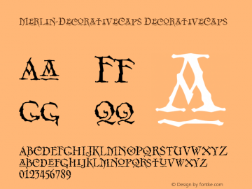 Merlin-DecorativeCaps Version 001.000图片样张