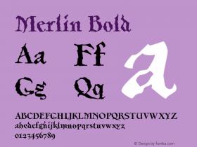 Merlin-Bold Version 001.000图片样张