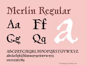 Merlin-Regular Version 001.000图片样张
