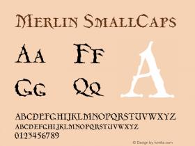 Merlin-SmallCaps Version 001.000图片样张