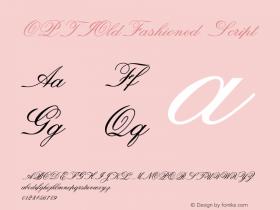 OPTIOldFashioned-Script Version 001.000 Font Sample