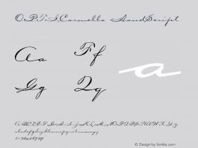 OPTICarmella-HandScript Version 001.000图片样张