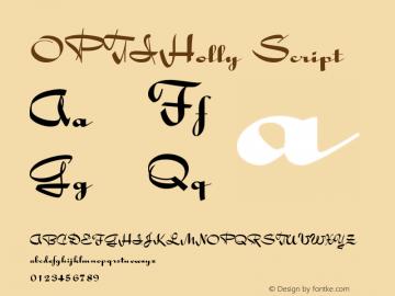OPTIHolly-Script Version 001.000图片样张