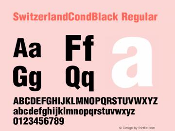 SwitzerlandCondBlack Regular Unknown图片样张