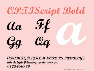 OPTIScript-Bold Version 001.000图片样张