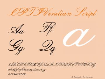 OPTIVenetian-Script Version 001.000图片样张