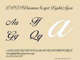 OPTIDiannaScript-LightAgen Version 001.000图片样张