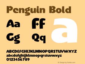 Penguin-Bold Version 001.000图片样张