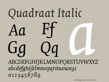 quadraat italic