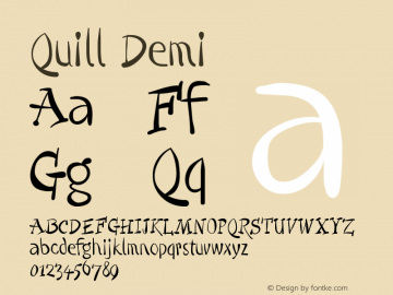 Quill-Demi Version 001.000图片样张