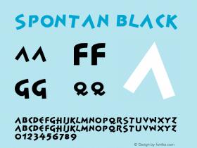 Spontan-Black Version 001.000图片样张