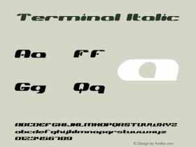 Terminal-Italic Version 001.000图片样张