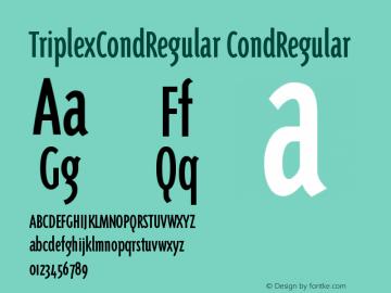 TriplexCondRegular Version 001.000图片样张