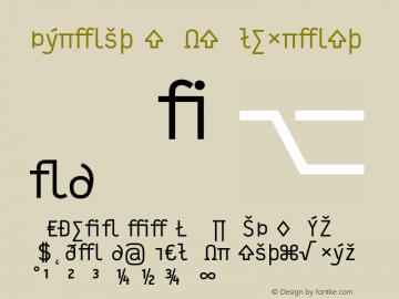 Typestar-NormalExpert Version 001.000图片样张