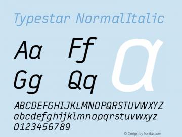 Typestar-NormalItalic Version 001.000图片样张