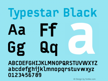 Typestar-Black Version 001.000图片样张