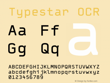 Typestar-OCR Version 001.000图片样张