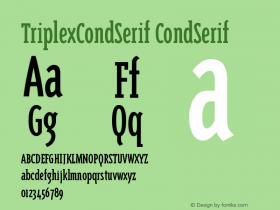 TriplexCondSerif Version 001.000图片样张
