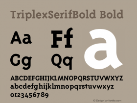 TriplexSerifBold Version 001.001图片样张