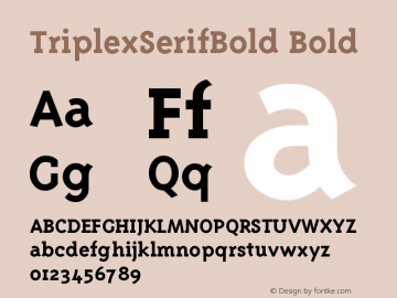 TriplexSerifBold Version 001.000图片样张