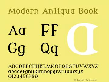 Modern Antiqua Version 2.000 Font Sample