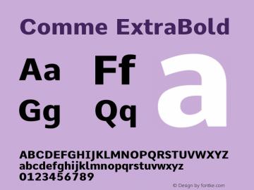 Comme ExtraBold Version 2图片样张