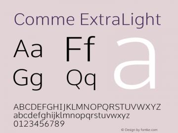 Comme ExtraLight Version 2图片样张
