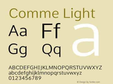 Comme Light Version 2图片样张