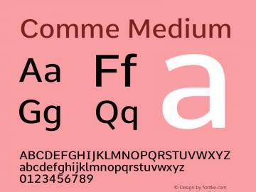 Comme Medium Version 2图片样张