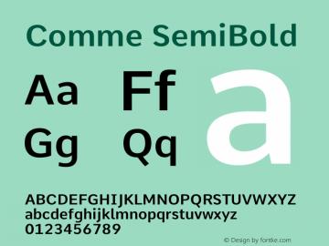 Comme SemiBold Version 2图片样张