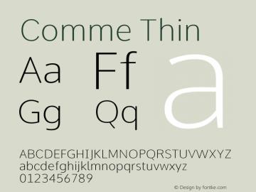 Comme Thin Version 2图片样张