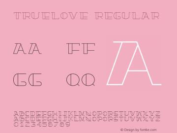 TrueLove Regular Version 1.000图片样张