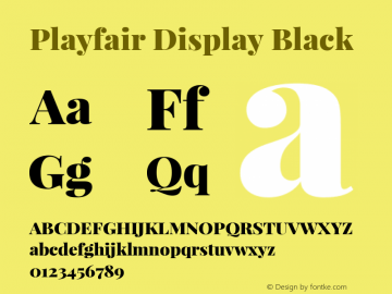 Playfair Display Black Version 1.005; ttfautohint (v1.2) -l 10 -r 42 -G 200 -x 21 -D latn -f latn -w G -X