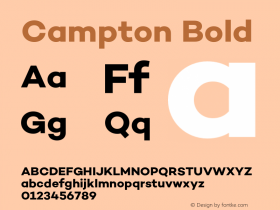 Campton Bold Version 1.000;PS 001.000;hotconv 1.0.70;makeotf.lib2.5.58329图片样张
