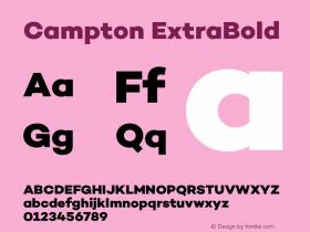 Campton ExtraBold Version 1.000;PS 001.000;hotconv 1.0.70;makeotf.lib2.5.58329图片样张