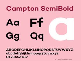 Campton SemiBold Version 1.000;PS 001.000;hotconv 1.0.70;makeotf.lib2.5.58329图片样张