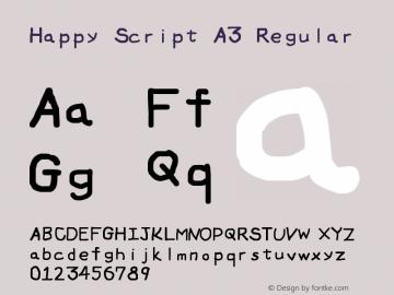 Happy Script A3 图片样张
