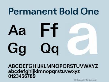 Permanent-BoldOne Version 001.001图片样张