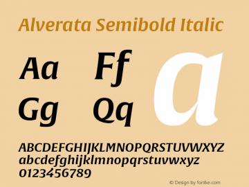 Alverata Sb Italic Version 1.001图片样张