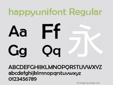 happyunifont Version 1.00 May 29, 2018, initial release图片样张