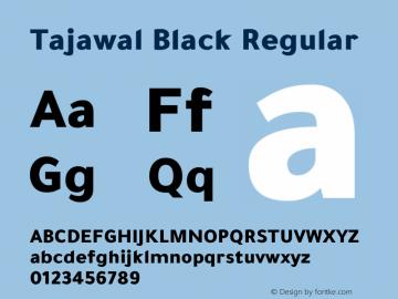 Tajawal Black Version 1.700图片样张