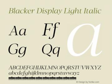 Blacker Display Light Italic Version 1.000图片样张