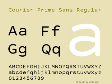 Courier Prime Sans Version 3.020 Font Sample