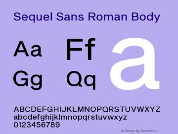 Sequel Sans Font,Sequel Sans Roman Body Font,SequelSans