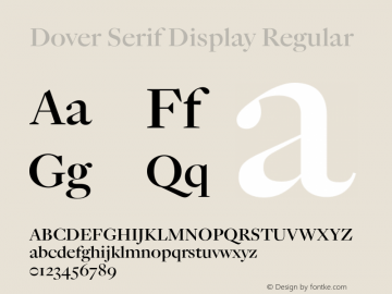 DoverSerifDisplay-Regular Version 1.1 | wf-rip DC20180410图片样张